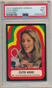 1977 Charlie's Angles Stickers #40 Cute Kris! PSA 7.5 NM Set Break Pop 1