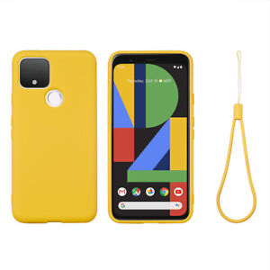 Soft liquid silicone Case For Google Pixel 5 /4a 5G 5A 6 Shockproof Back Cover