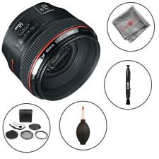 Canon EF 50mm f/1.2L USM Lens and cleaning accessories