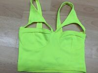 New Womens Ladies SEXY Cutout Bralet Bra Crop Top Boobtube Vest Celeb Party 8-14