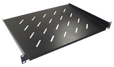 "1u 350mm Deep Vented Shelf for 19"" Rack Cabinet Front Mounting Type"