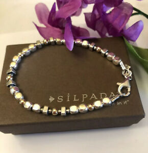 SILPADA B1213 Sterling Silver and 14K Gold-Filled Bead Nugget Bracelet *MINT