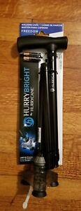 X1 HurryBright HurryCane Light Up Pivot Black Sawtooth Adjustable Walking Cane