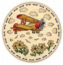 Embroidery on a wooden base kit Sliver by MP Studio O-030 - High in the sky