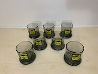 """Vintage BELL SYSTEM """"Yellow Pages"""" AT&T 1970's 1980's Bar Glass Tumbler Set (7)"""