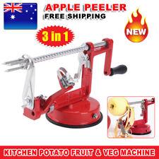 NEW Fruit Cutter Corer 3 in 1 Slicer Kitchen Tool Apple Slinky Machine Peeler AU