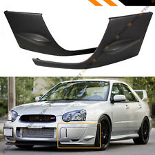 FOR 2004-05 SUBARU IMPREZA WRX STI GD 2PC FRONT BUMPER SIDE SPLITTERS COVERS CAP