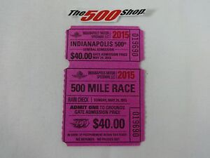 2015 Indianapolis 500 Mile Race Grounds Gate General Admission Used Ticket