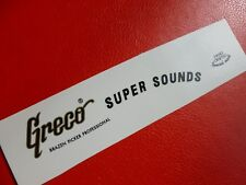 Greco Super Sounds decal. Metallic gold ... waterslide