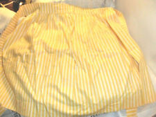 Vintage 1/2 Apron Yellow & White Striped