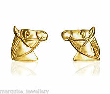 9ct Gold Horse Head Stud Earrings.