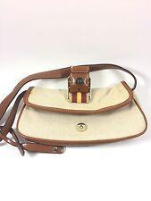 Issac Mizrahi Handbag Small Baguette Lined Purse Clutch Tan Brown