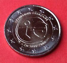 2 Euro Gedenkmünze FRANKREICH 2009 10 Jahre WWU / EMU UNC