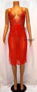 $328.00 Victoria's Secret Designer Collection Embellished Lace & Silk Slip S red
