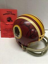 Riddell Washington Redskins Mini Helmet Signed Auto Charlie Taylor RARE! CERT