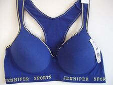 1 NWT Women SPORT BRA Active Wear Workout PADDED Yoga top 42B 42C 44B 44C #61014