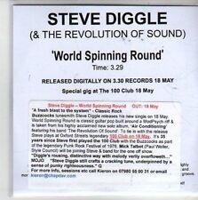(CG966) Steve Diggle & The Revolution of Sound, World Spinning Round - DJ CD