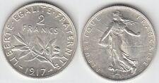 Gertbrolen 2 Francs Argent Type Semeuse 1917  Exemplaire N° 1