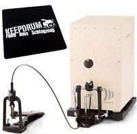 CAP 100 Cajon Pedal inkl Bodenplatte & Bag + KEEPDRUM Sitzpad