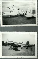 "LOT OF 2: 1949 AIR RACING AIRPLANES 4"" X 6"" BLACK & WHITE PHOTOGRAPHS"