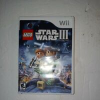 LEGO Star Wars III: The Clone Wars 3 (Nintendo Wii, 2011) Complete with Manual