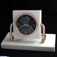 MOLNIJA Vintage Soviet Russian Mechanical Table Clock USSR Molniya Watch