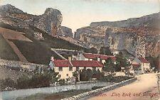 BR64499 cheddar lion rock and village  uk