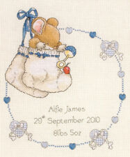 1x Counted Cross Thread Stitch Kit Birth Record Country Companions - New Baby  1