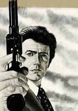 "Gary Adelman, ""Clint Eastwood"", 17x20.5, Hollywood, Original, Pastel"