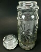 """Vintage Anchor Hocking PLANTER'S PEANUTS NUTS Clear Jar with Lid 10"""""""