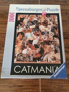 CATMANIA -1000 Piece Cats Jigsaw Puzzle by Ravensburger of France.
