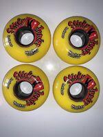 Kryptonics Mister Sticky 64mm 76A Inline Skate Wheels Yellow 4-pack