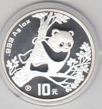 China  10 Yuan  Panda  1994  1 Unze Silber  Polierte Platte