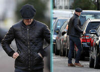 David Mens GENUINE quilted leather bomber jacket-BNWT