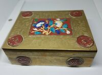 Vintage Chinese Enameled Brass Box