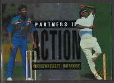 FUTERA 1996 CRICKET ELITE P.WICKREMASINGHE & R.RATNAYAKE PARTNERS CARD No 55