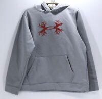 Under Armour Boy's Junior's Grey Pull Over Hoodie Size YXL