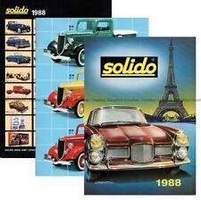 CATALOGUE SOLIDO COLLECTION 1998 PRESTIGE AGE D'OR LES MILITAIRES TONERGAM 1/43