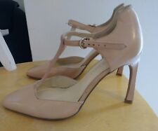 Nine West Womens Nude Leather Mary Janes Strap Shoes. Size 6.5
