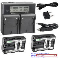 Kastar NP-FM500H Battery Charger Sony a200 a300 a350 a700 Alpha a58 Alpha a99