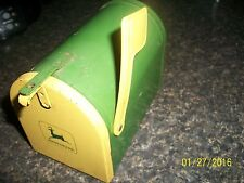 "John Deere Ertl Brand Metal Mailbox USA Piggy Bank  5""inches long"