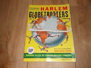 VINTAGE HARLEM GLOBETROTTERS 1963 YEARBOOK - EXC COND!
