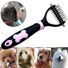1x Stainless Pet Dog Hair Comb Brush Rake Grooming Pet Detangling Comb pink 24