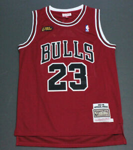 Rétro 1998 Finals Michael Jordan #23 Chicago Bulls Basketball Maillots Rouge