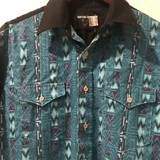 Vintage Frontier Series Men's Shirts M Western Long Sleeve Button Down
