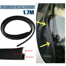 Black 1.7m Car Front Windshield Panel Seal Strip Universal Rubber Sealing Trim (Fits: Daewoo)