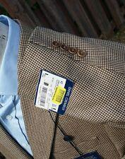 NEW Daniel Cremieux Men 42L Tweed Houndstooth Fleck Blazer Sport Coat Jacket