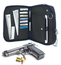 Genuine Leather Concealed Carry Pistol Concealment Gun Notebook Organizer CCW