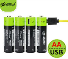 4pcs ZNTER 1.5V AA 1250mAh li-polymer li-po rechargeable lithium li-ion battery