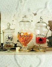 Victorian Trading Co 3 Poison Apothecary Glass Jars Belladonna Arsenic Hemlock